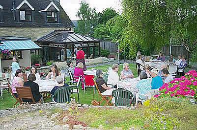 women's club garden party